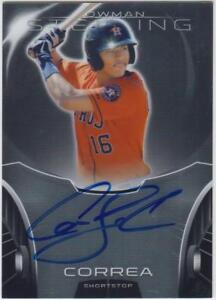 Carlos Correa Astros 2013 Bowman Sterling #CC Rookie Card rC BGS 9 Auto 10 Gem