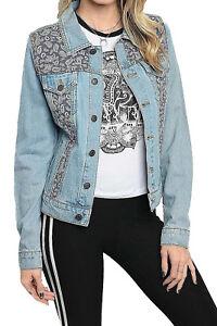Women-039-s-Juniors-Premium-Denim-Jackets-Long-Sleeve-Jean-Coats