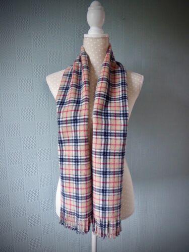 70/'s concert scarf Bay City Rollers beige tartan//plaid scarf Red tartan scarf