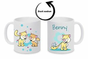 Kindertasse Kunststoffbecher Tasse Cat541 bruchfest mit Namen Kinderbecher