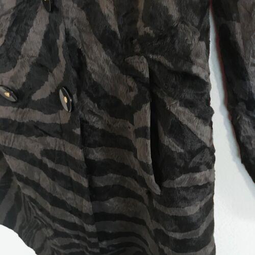 Sz fourrure manteau double gris à Bowley noir Beth boutonnage robe de 6 animal fausse 5gw7RxqTA