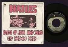 "7"" BEATLES BALLAD OF JOHN AND YOKO / OLD BROWN SHOE MADE IN ITALY 1969 APPLE"
