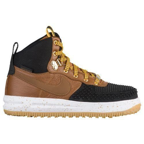 882842-002 Black Brown White Youth Boy/'s Boots GS Nike Lunar Force 1 Duckboot