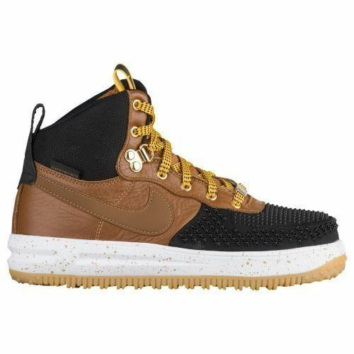 purchase cheap ac6e8 0851b Nike Lunar Force 1 Duckboot (gs) Hiking BOOTS Black British Tan Boys Size 4  for sale online  eBay