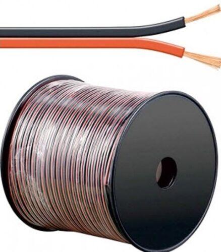0,70€//m 50m Led Kabel Zwillingslitze 1,5mm² rot schwarz ummantelt 2-adrig