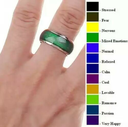 Anello acciaio cambia colore umore //Women/'s ring steel change colour mood ring