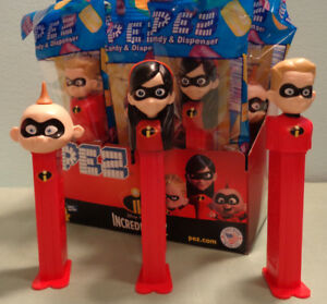 PEZ-Disney-The-Incredibles-2-Movie-Dash-Candy-Dispenser-NEW-W-Pez