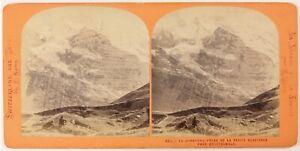 Jungfrau Suisse Foto Lamy Stereo PL27L1n Vintage Albumina c1868