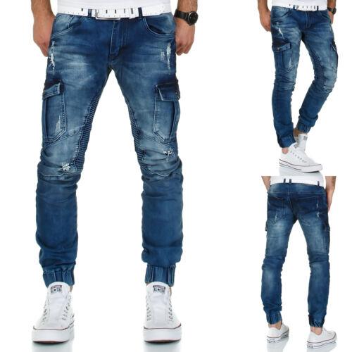 Cargo SWEAT JEANS UOMO Pantaloni Denim Slim Fit Jeans Pantaloni Cargo Pant Cargo Jeans