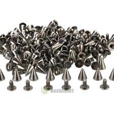 100pcs 10mm Gold Spots Cone Screw Metal Studs Leathercraft Rivet Bullet Spikes