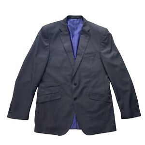 AUTOGRAPH-M-amp-S-Grey-Wool-Blend-Two-Button-Tailored-Fit-Blazer-Jacket-Size-42-Long