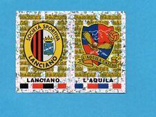 PANINI CALCIATORI 2001/2002- Figurina n.653- LANCIANO+L'AQUILA - SCUDETTO -NEW