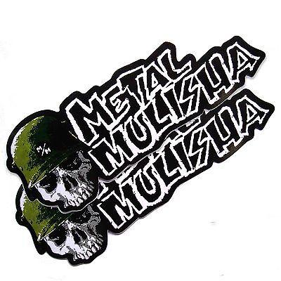 *2PC. BIG METAL MULISHA STUNT TEAM DECAL STICKER DIE-CUT MOTOR SPORTS MOTOR BIKE