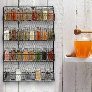 Wall-Mount-4-Tier-Spice-Jar-Rack-Organizer-Pantry-Kitchen-Cabinet-Storage-Holder