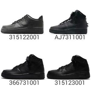 Nike-Air-Force-1-07-Mid-Hi-All-Triple-Black-Out-Men-Women-Kids-Junior-Pick-1