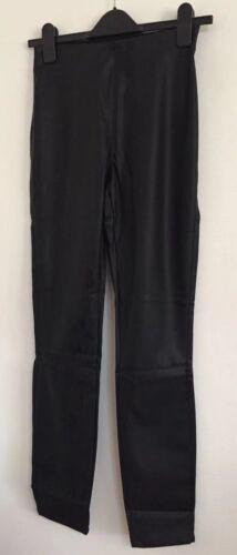 NUOVO Ex New Look Nero Slim Skinny Leather Look Leggings Jeggings Jeans Taglia 8-12