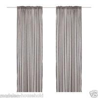 Genuine NEW IKEA Vivan Pair GREY colour 145x250cm Curtains 57x118 1stclass-b788
