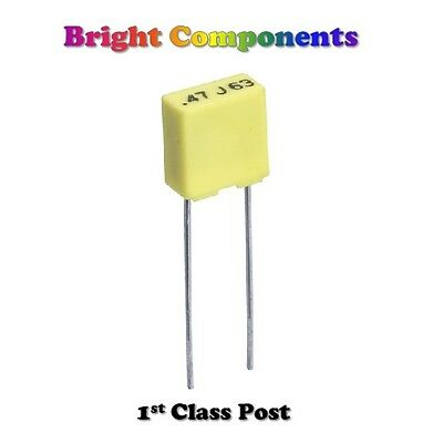 Miniature Polyester Box Capacitors - 100v/250v - Capacitor - 1st CLASS POST
