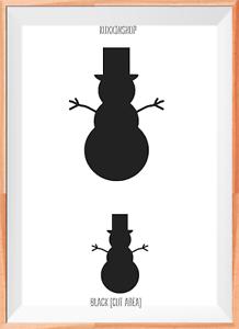 Christmas Snowman Decoration Mylar Reusable Stencil Airbrush