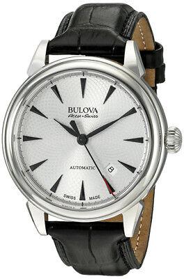Bulova Accu-Swiss Gemini 63B173 Swiss Made Automatic Men's Dress Watch NEW