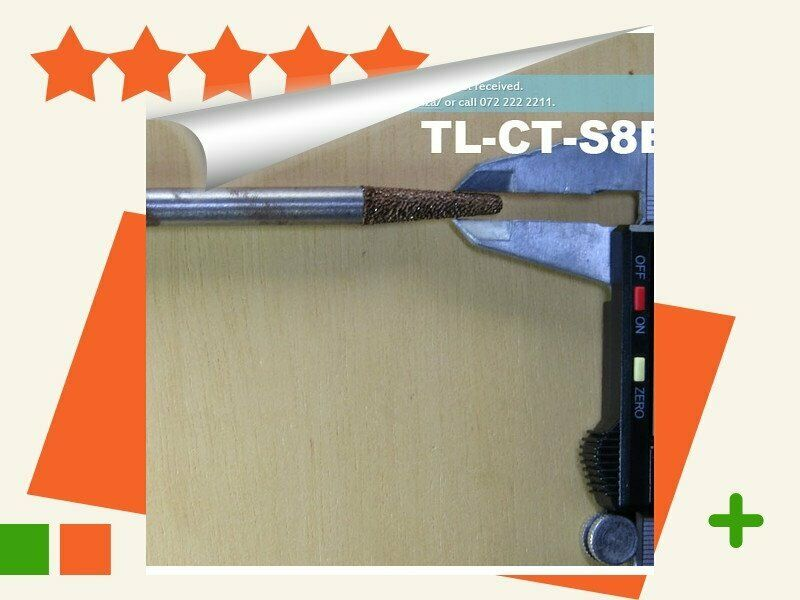 10 Pieces of 8mm Tapered Ball Nose (3mm) Marble Stone Router Bit,.. Buythis.co.za TL-CT-S8B3-30