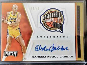 /49 Kareem Abdul-Jabbar 2019-20 Chronicles Hall of Fame Auto Autograph Lakers SP