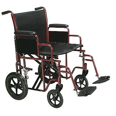 "DRIVE Heavy Duty Wide Bariatric Transport Chair Wheelchair 20"" or 22"" Seats"