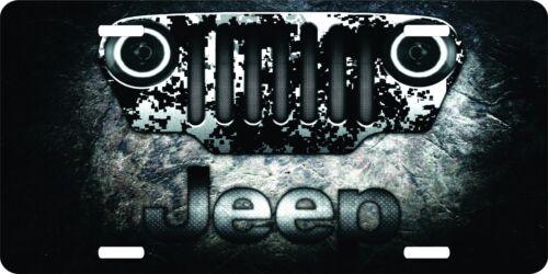 Jeep 4 x 4 Mud 4-Wheel-Drive License Plate Car Truck Tag