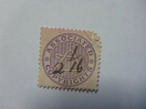 OLD-SMALL-MUSIC-LABEL-COPYRIGHT-ROYALTY-STAMP-ASSOCIATED-2-1-16d