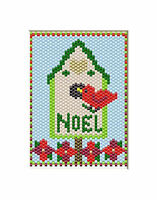 Exclusive Herrschners Beaded Banner Kitholiday Birdhouse Complete