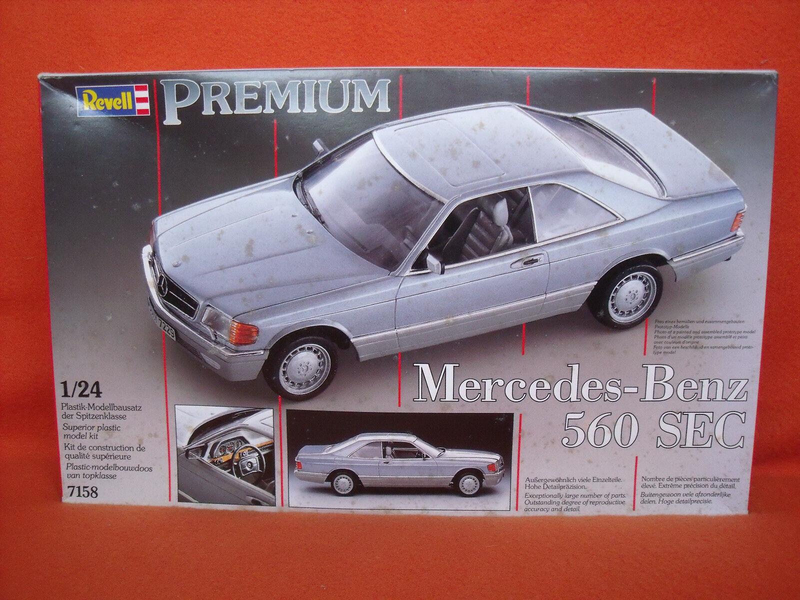 Revell ® 7158 7158 7158 Mercedes-Benz 560 SEC Premium 1 24 f73195