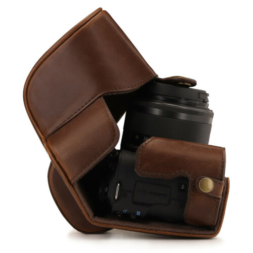 MegaGear Canon EOS M50 15-45mm Ever Ready Leather Camera Case and Strap