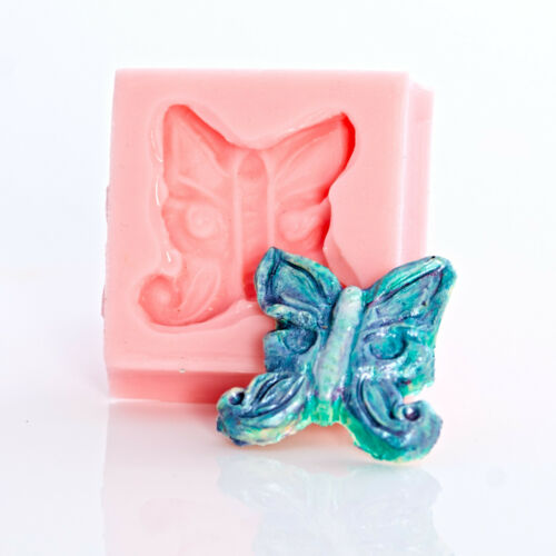 512 Butterfly Flexible Silicone Mold Fondant Candy Mint Polymer or Metal Clay