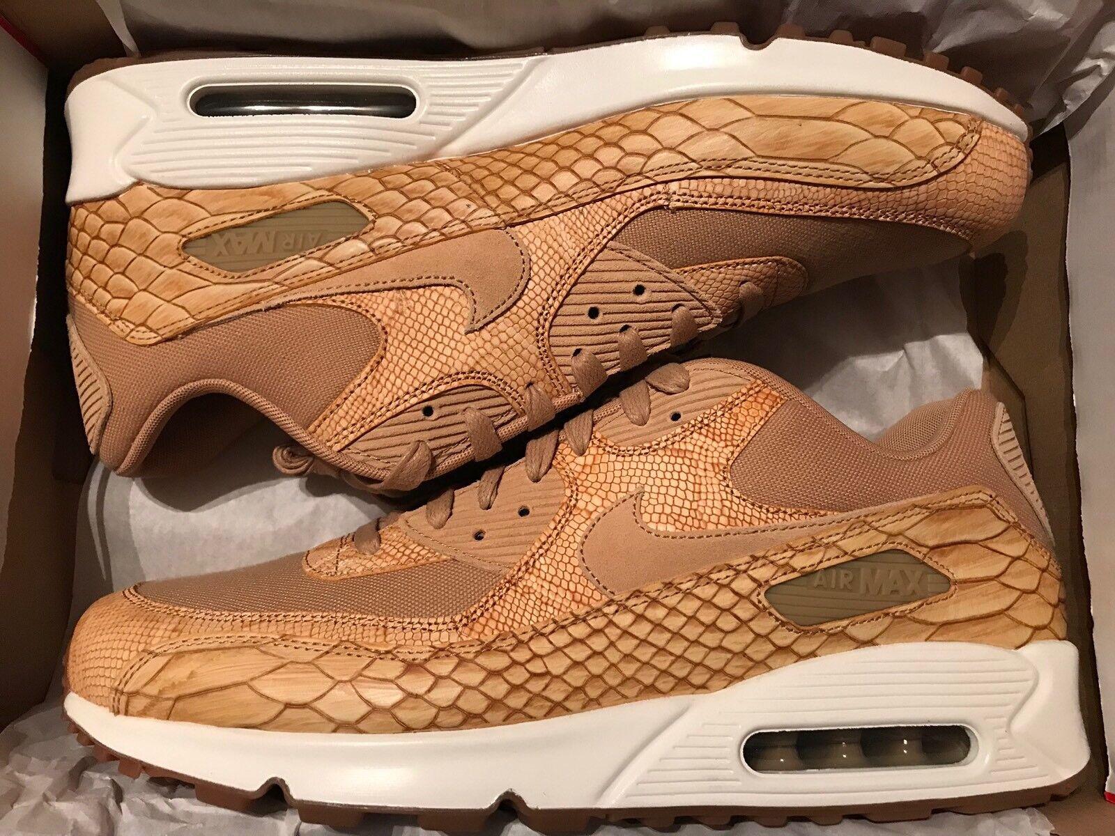 Nike Air Max 90 Premium LTR Snake Skin Pack ah8046-200 Size 13 New