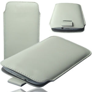 MX-Slim-Cover-Case-Schutz-Huelle-Etui-Pull-Tab-Tasche-fuer-LG-K8-2018-WEIss