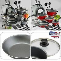 Nonstick Cookware Set Teflon 18-piece Pots Pans Kitchen Cooking Kitchenware Lids