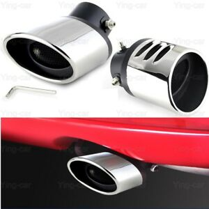 OEM 1pcs Silver Color Stainless Steel Exhaust Muffler Rear Tail Pipe Tip Tailpipe Extension Pipes Custom Fit for Honda HRV HR-V 2015 2016 2017 2018 2019