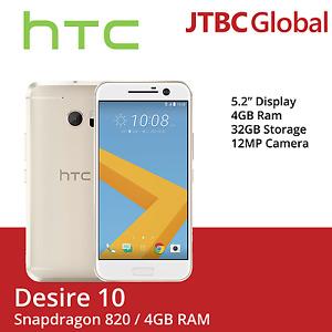 New HTC 10 M10h 5.2 Inch 4GB Ram 32GB 12MP Factory Unlocked Gold Smartphone