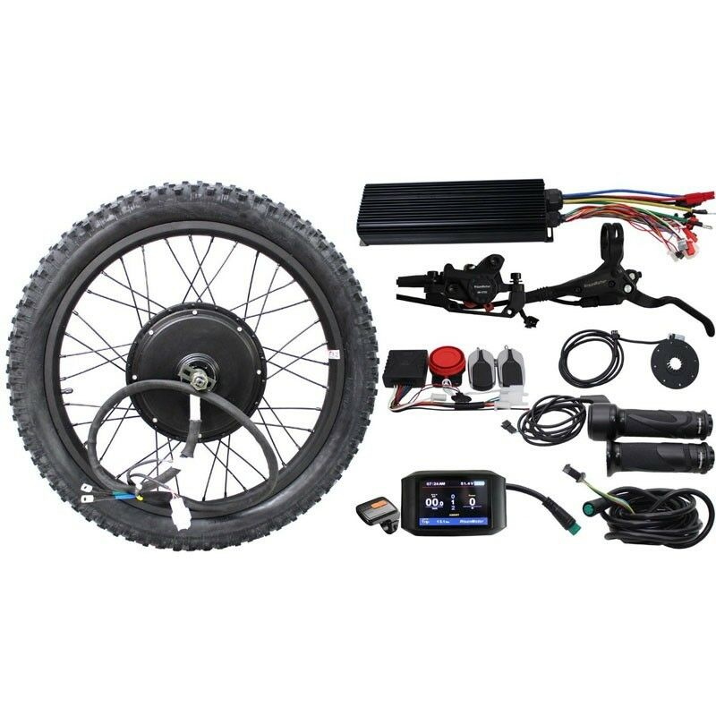 RisunMotor 36V 48V 60V 72V 3000W eBike Conversion Kits Motor Wheel Kits od34