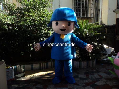 POCOYO Boy Adult Mascot Costume Fancy Dress Outfit UK
