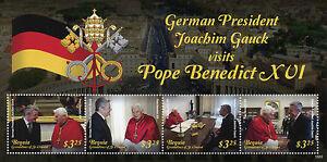 Bequia-Grenadines-St-Vincent-2015-MNH-Pope-Benedict-XVI-Joachim-Gauck-4v-M-S