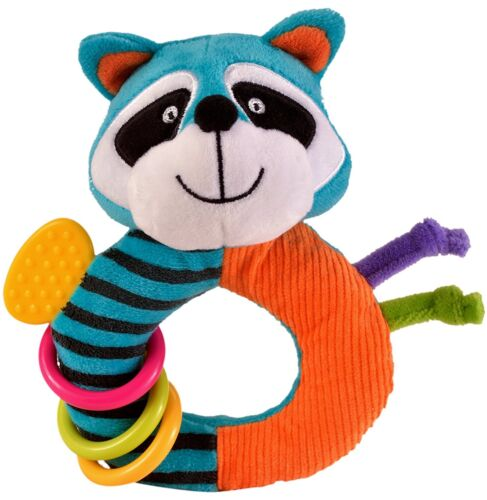 Raccoon Fiesta Crafts Ringaling Doll Soft Rattle