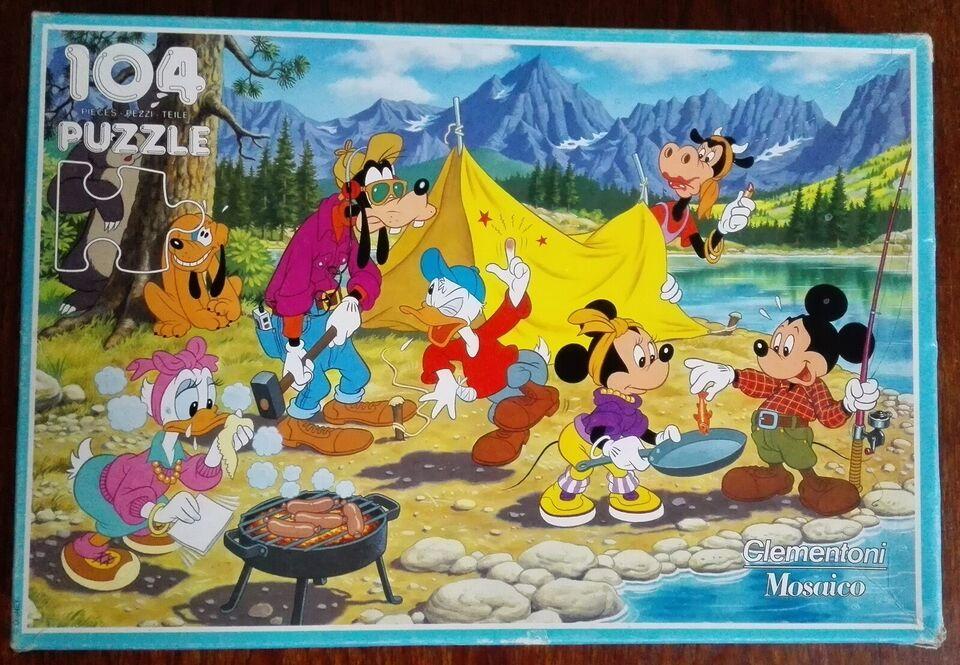 SOLGT - Disney Camping, 104 brikker , puslespil