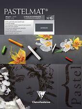 Clairefontaine pastelmat-Pastello Carta Pad 360g Antracite - (RIF. 6) -18 x 24cm