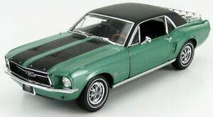 GREENLIGHT 1/18 FORD USA | MUSTANG SKI COUNTRY SPECIAL COUPE 1967 | GREEN BLACK