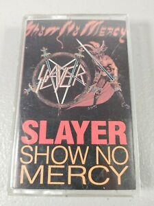 1983 Slayer Show No Mercy Metal Blade Cassette + Aggressive Perfector (Tested)