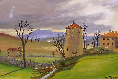 1908-1976 Yves Moisan Nivernais Cantal Mounts D'auvergne Coulanges-les-nevers Drip-Dry