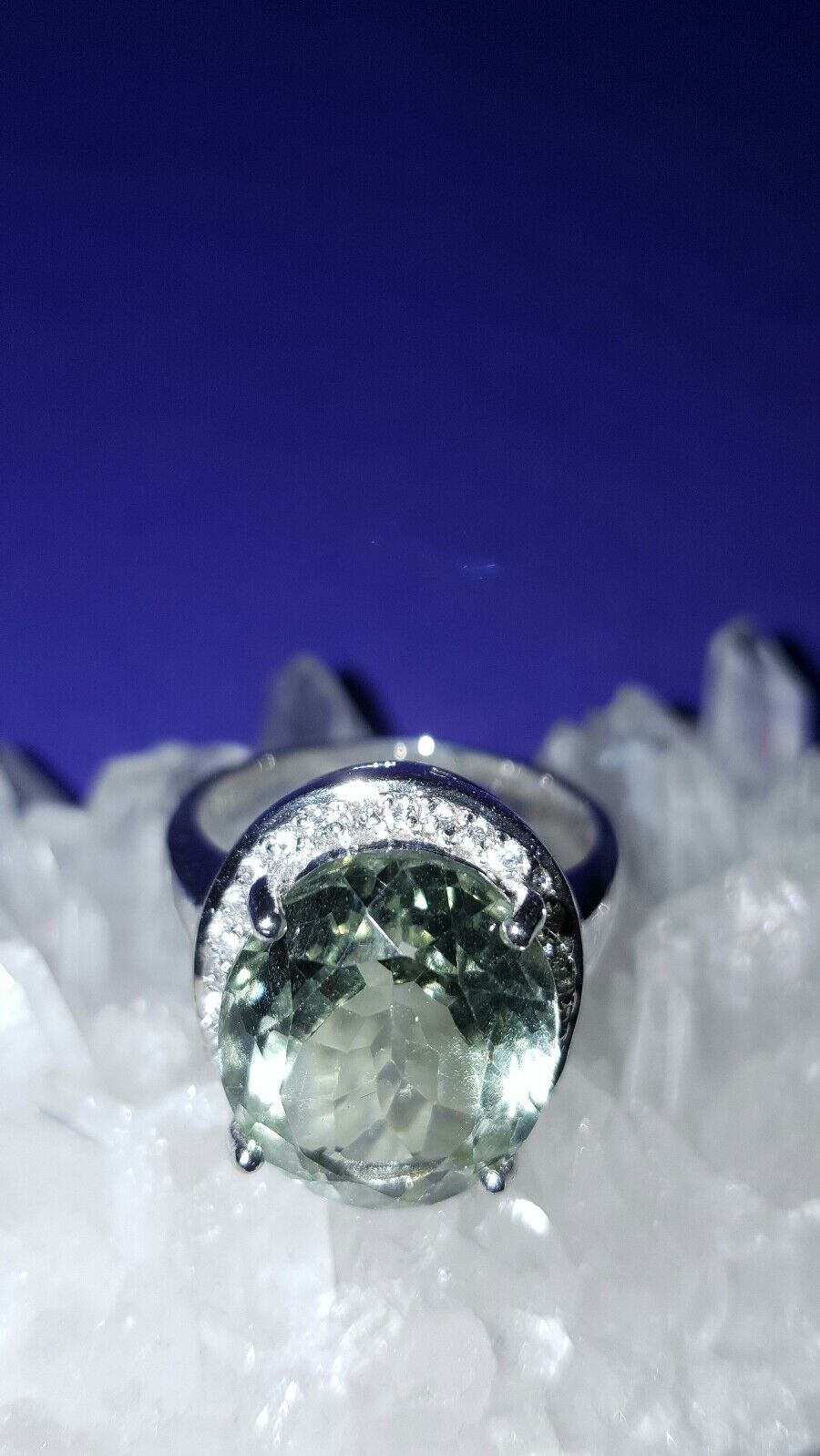 JAYNES GEM  STUNNING NATURAL 5CT GREEN  AMERTHYST SIZE N US- 0  US 6.5