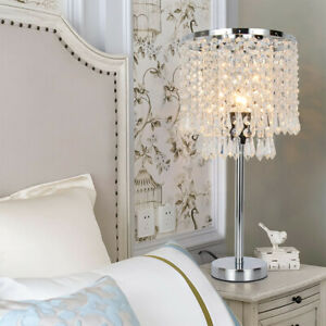 Crystal Table Lamps For Bedroom | Details About Crystal Table Lamp Elegant Decorative Desk Lamp With Crystal Shade Bedroom Us St