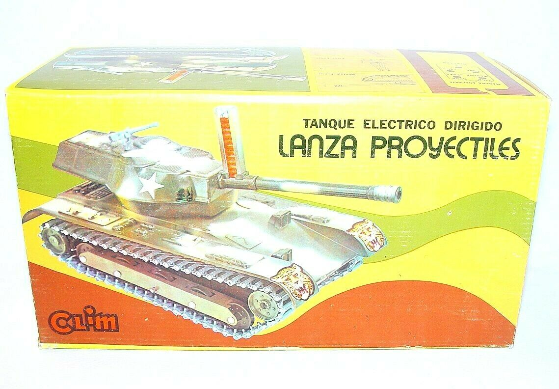 Clim Spain US ARMY M47 PATTON TANK 31cm RC Battery Operated  383 MISB`78 RARE